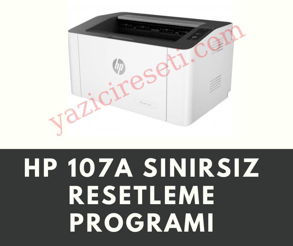 HP 107W Yazıcı Resetleme Programı