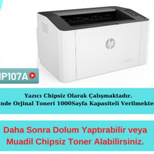 HP 4ZB77A 107A Lazer Chipsiz Yazıcı