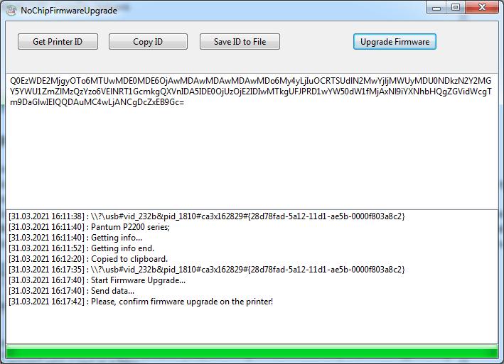 Pantum P2500 P2500W Yazıcı Resetleme Chipsiz Çalıştırma