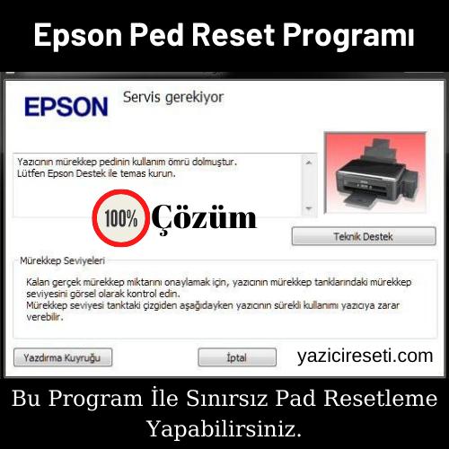 Epson Sınırsız Ped Reset Programı